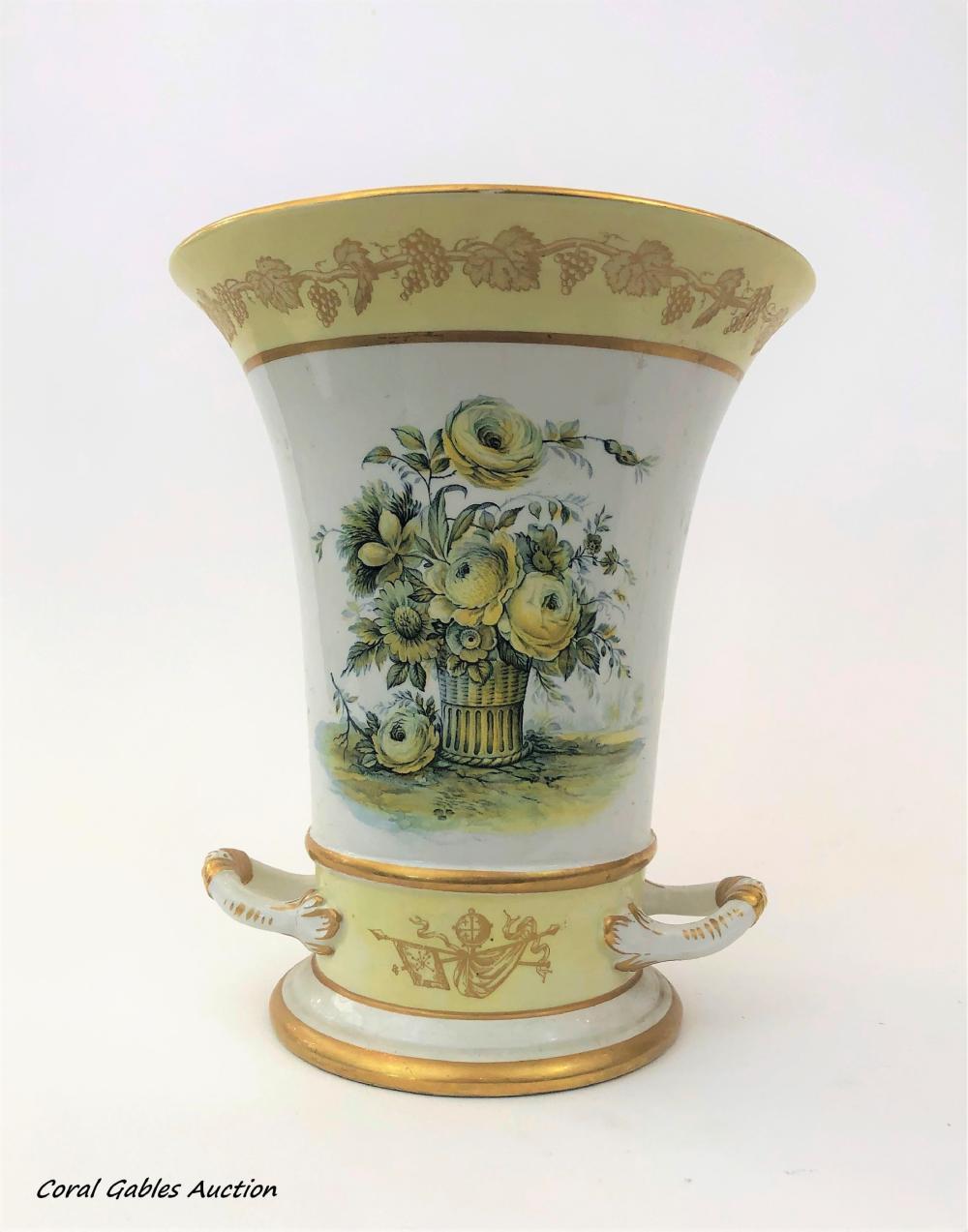 Italian porcelain vase. Signed A. Mottahedeh design.
