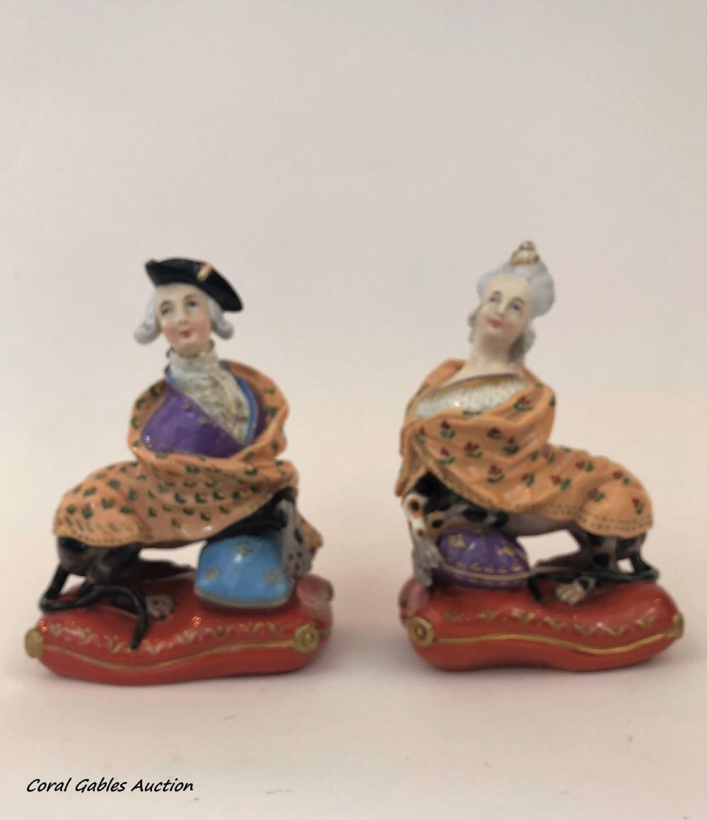 Pair of porcelain figures of royalty images
