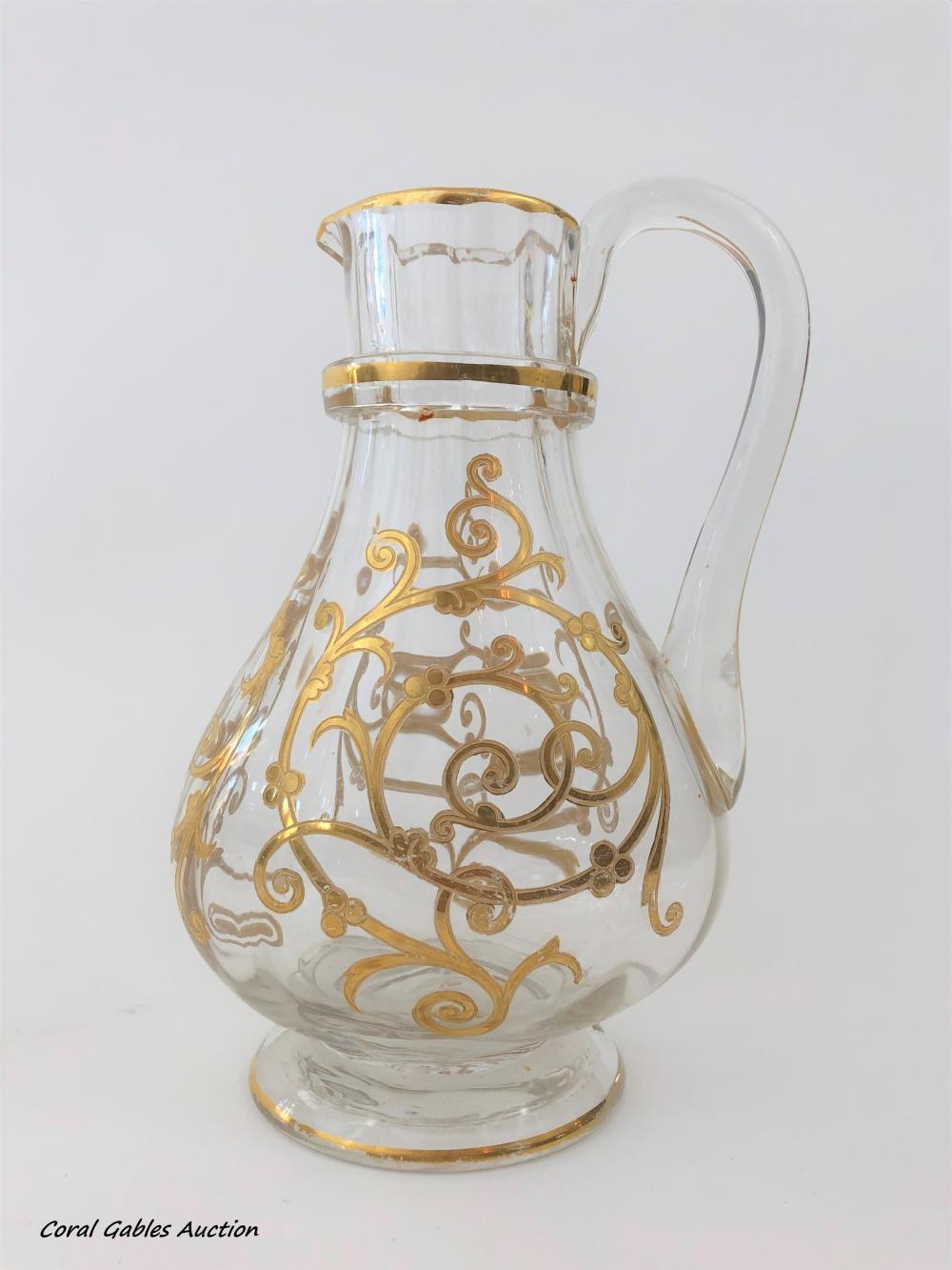 Antique baccarat-style jug