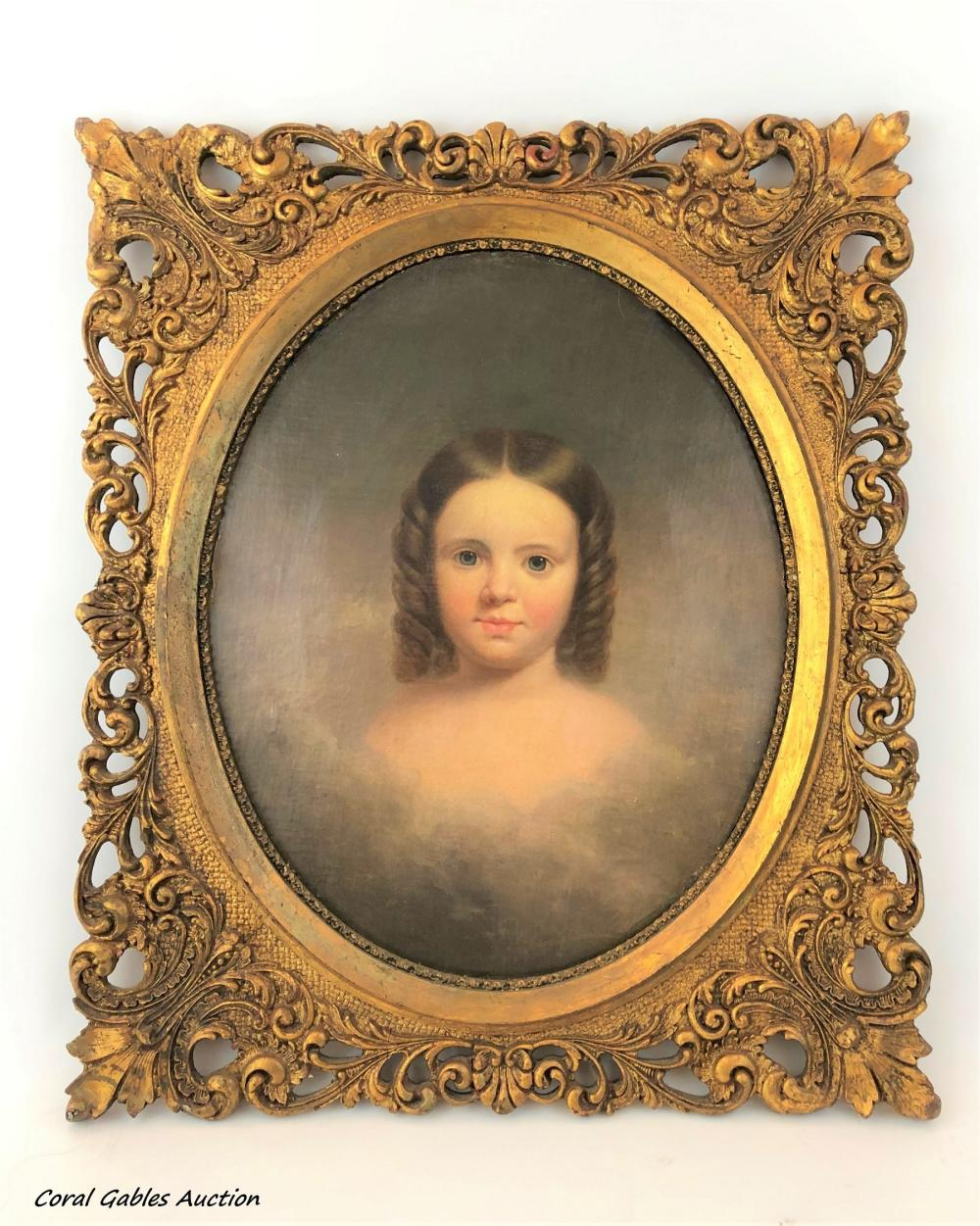 Portrait of the 19th century. Oleo on canvas. No signed