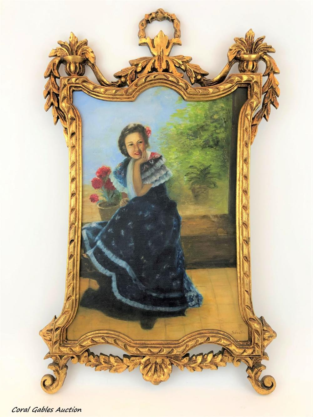 Oleo on canvas on board painting. Signed no elegible