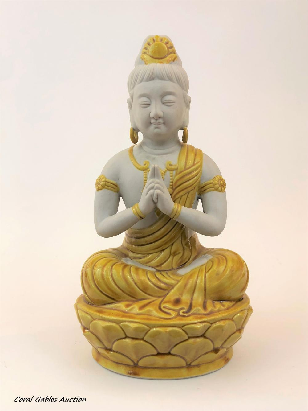 Biscuit and Majolica Buddha