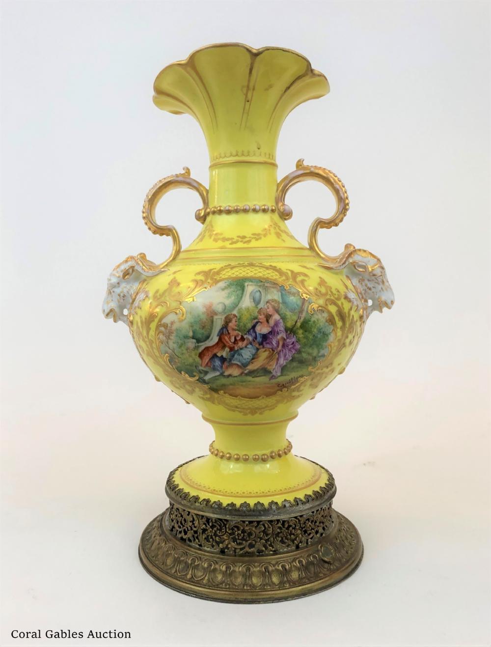 Antique Amphora Signed Sevre