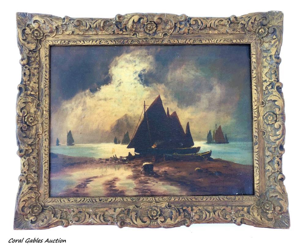 Marine painting. No signed