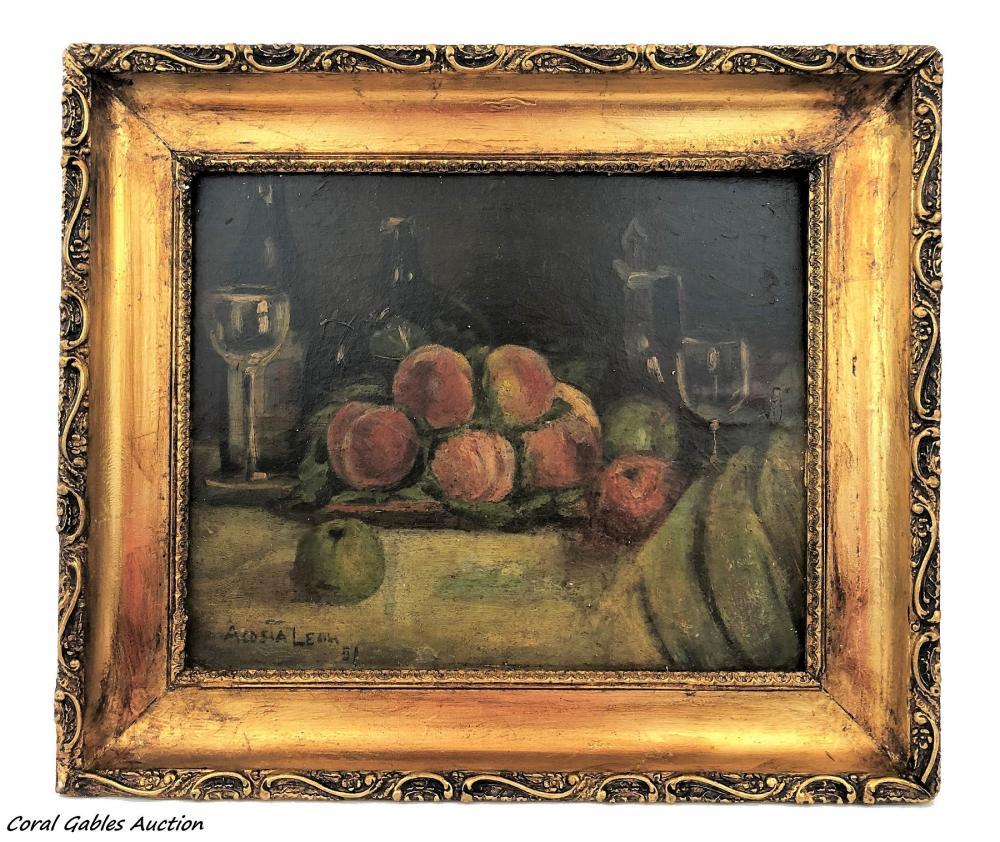 Acosta Leon 1951. Oleo on board painting.
