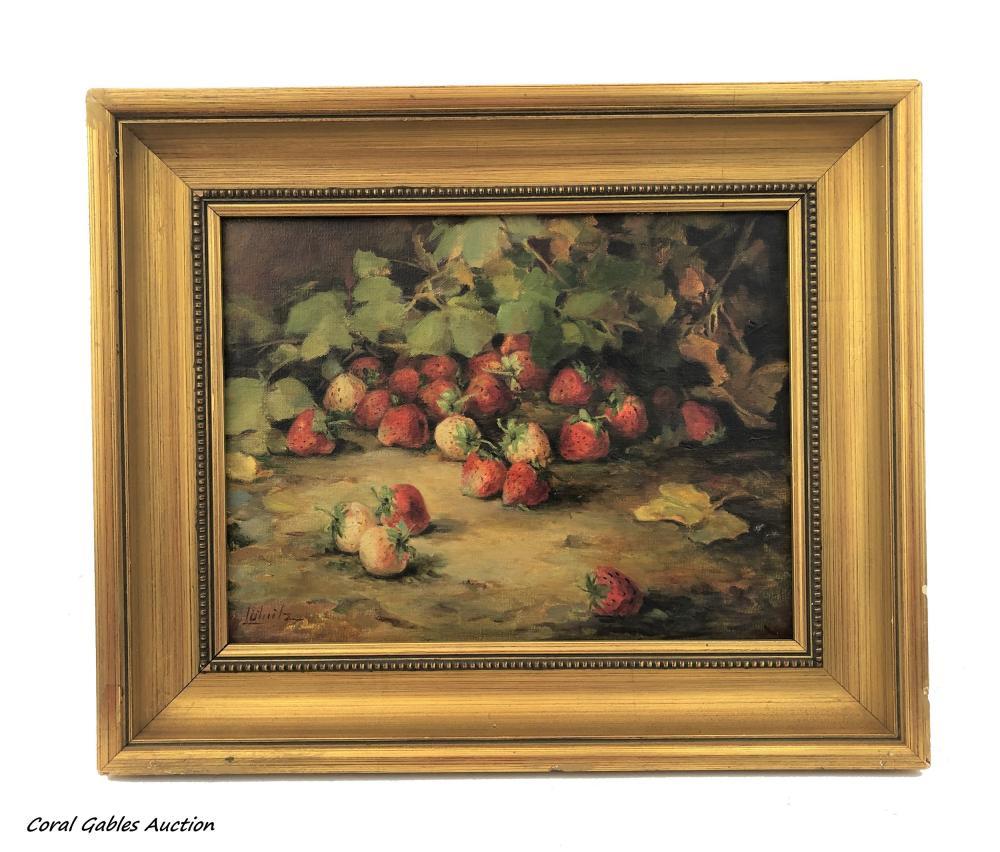 Oleo on canvas painting, signed.