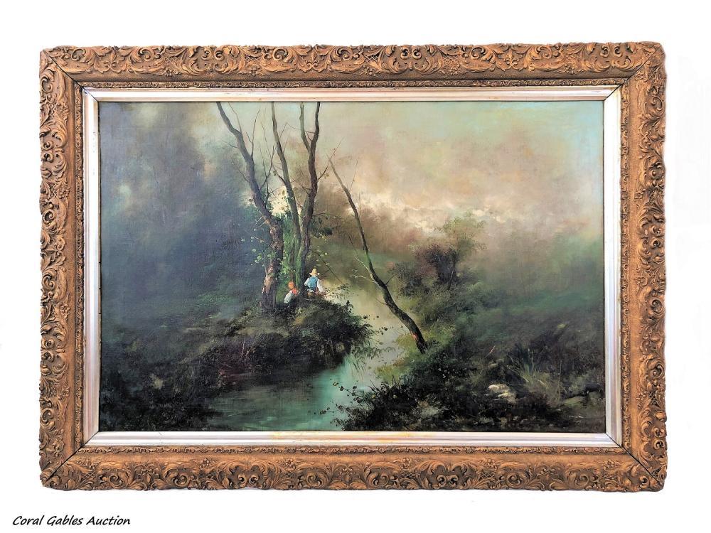 19 century painting. Oleo on canvas.