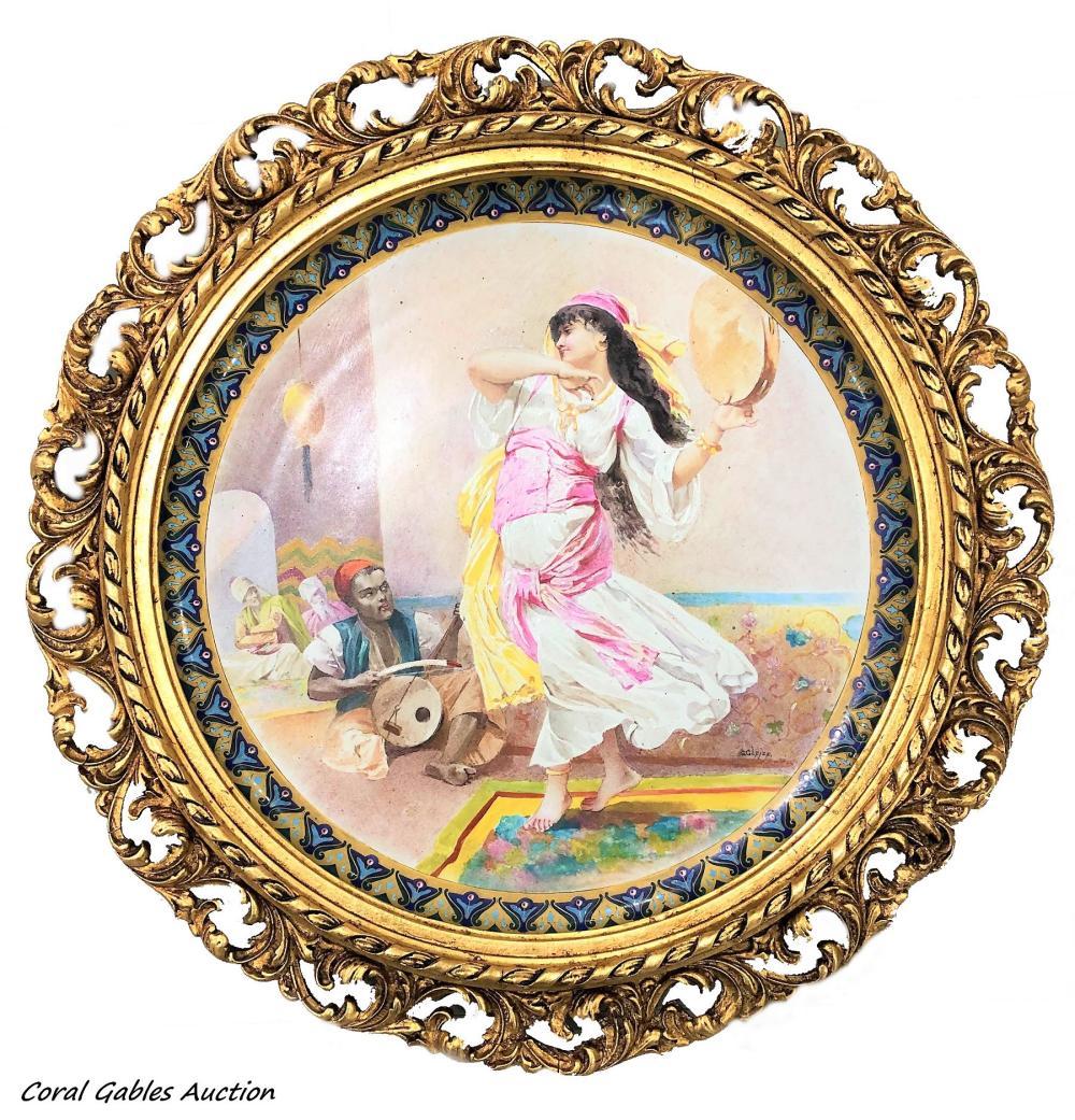 Antique French Porcelain Plaque