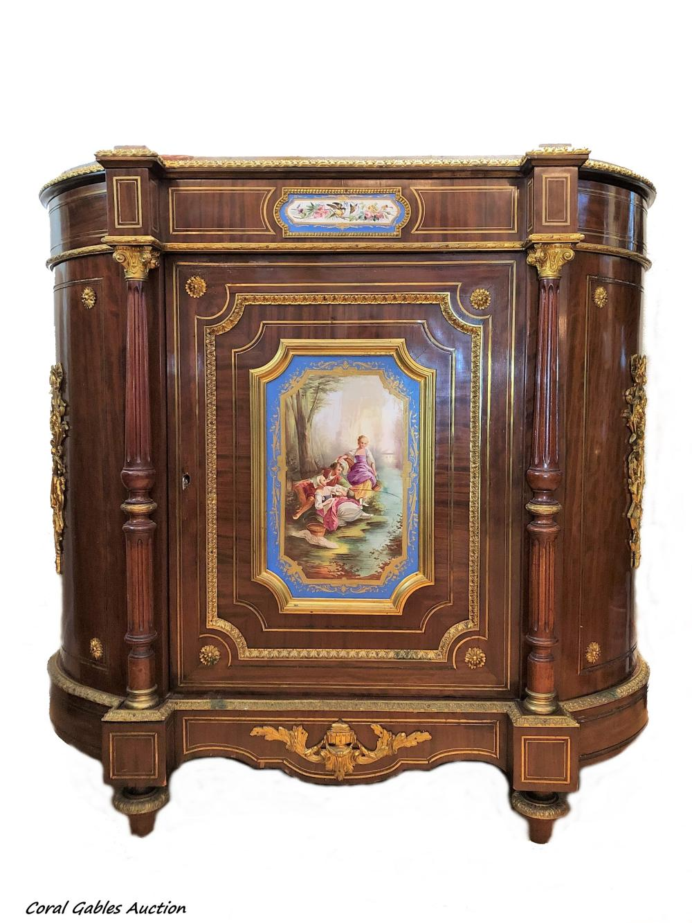 19th century French Commode with bronze and sevre plaques