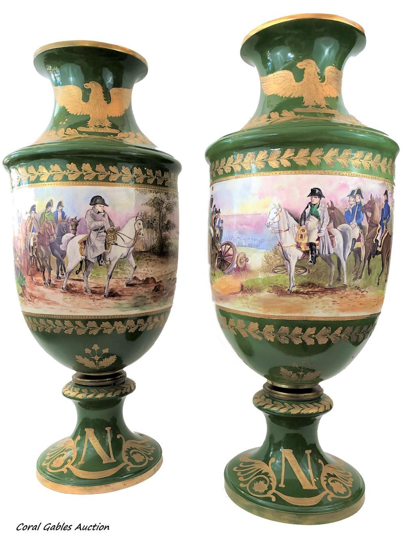 Pair of 20th century Napoleonic sevres