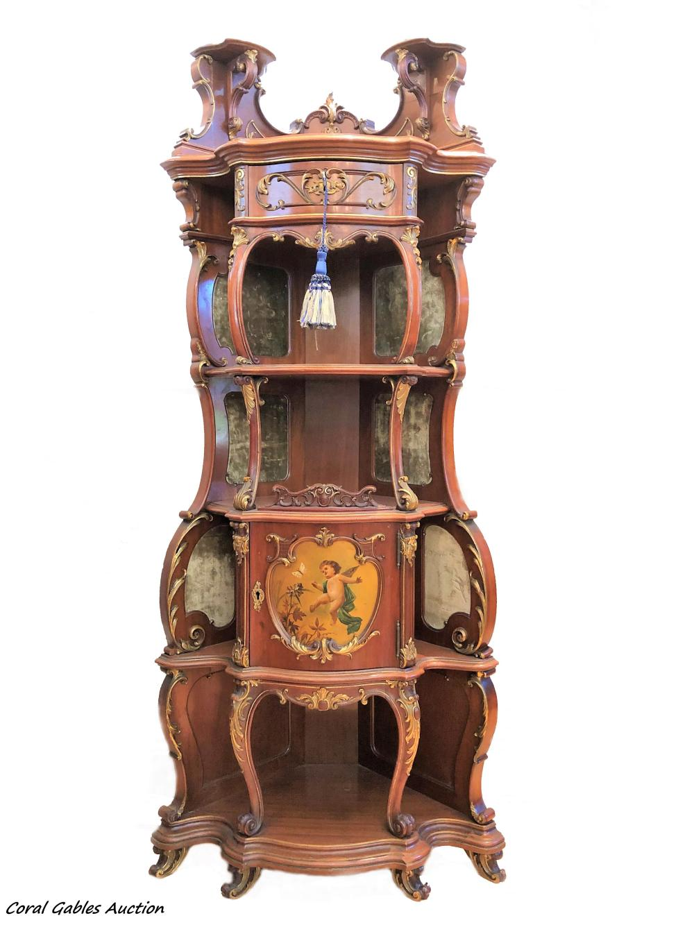 19 century Vernis Martin Style Cabinet