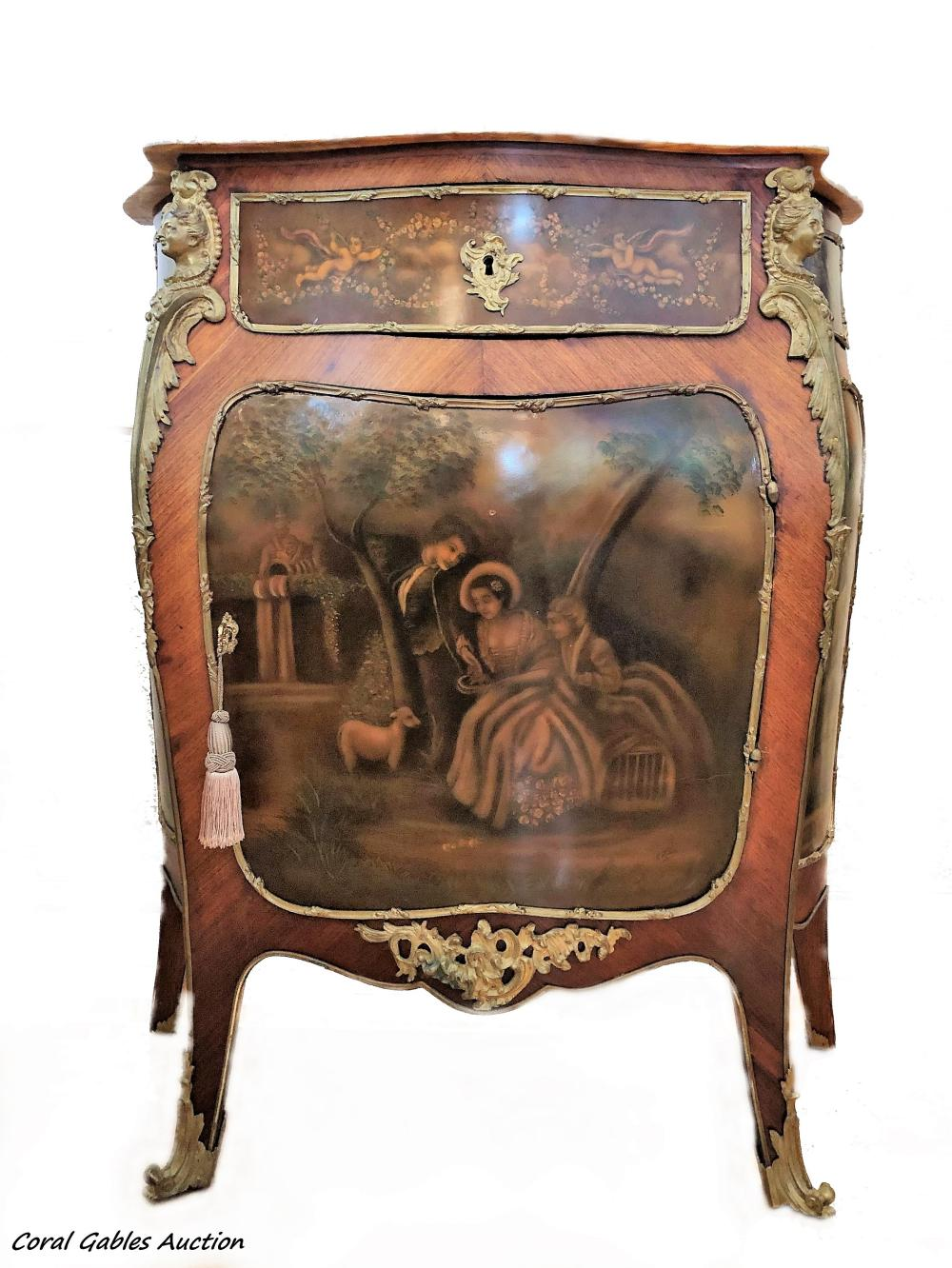 19 Century French Vernis Martin Style Commode