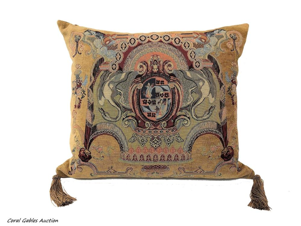 Beautiful cushion filled with feathers
