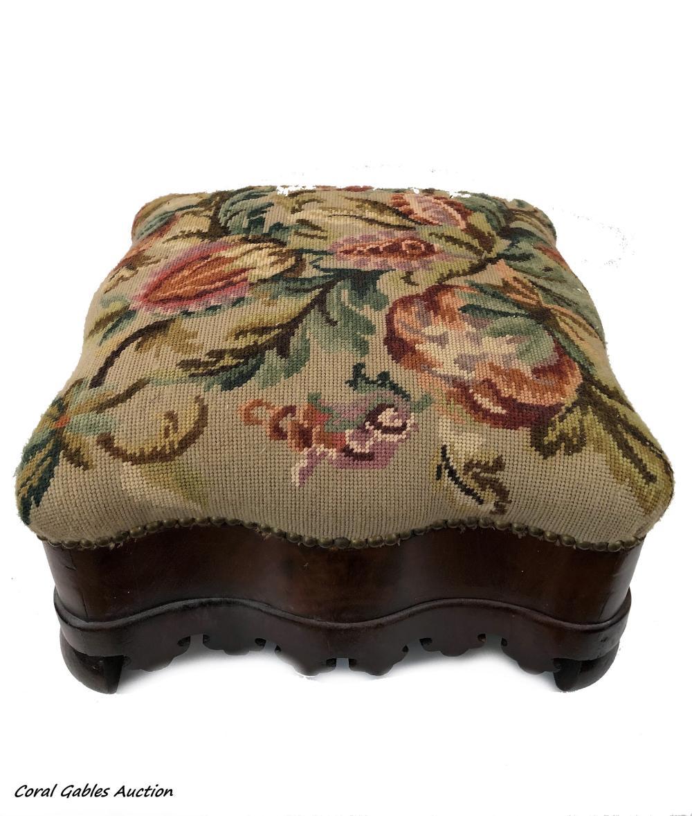 Antique English foot stool