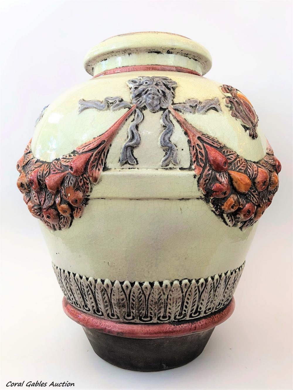 Antique Majolica Vase