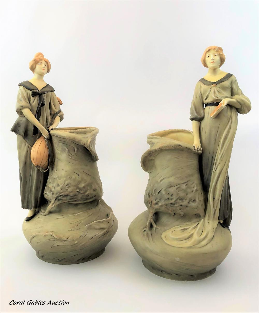 Pair of Royal Dux Bohemia Vases.