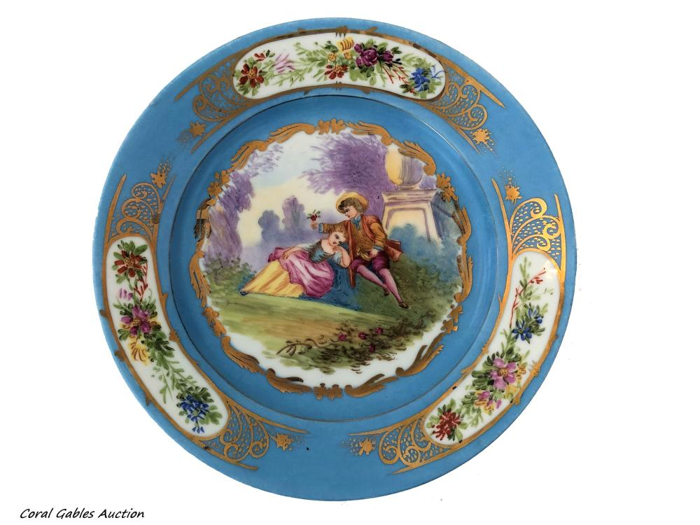 Antique French 19 century sevre plate