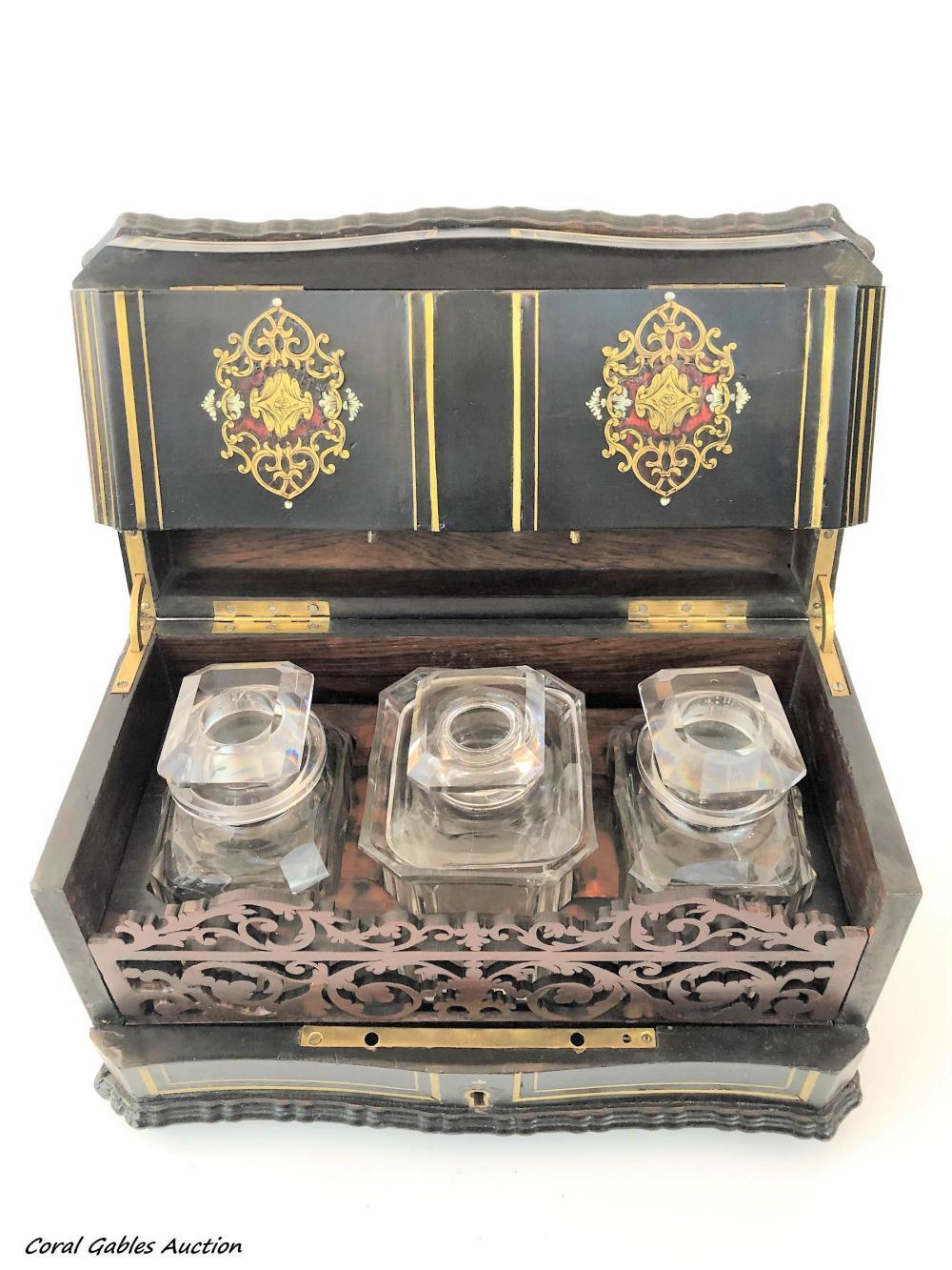 Antique English Tea Caddy Box