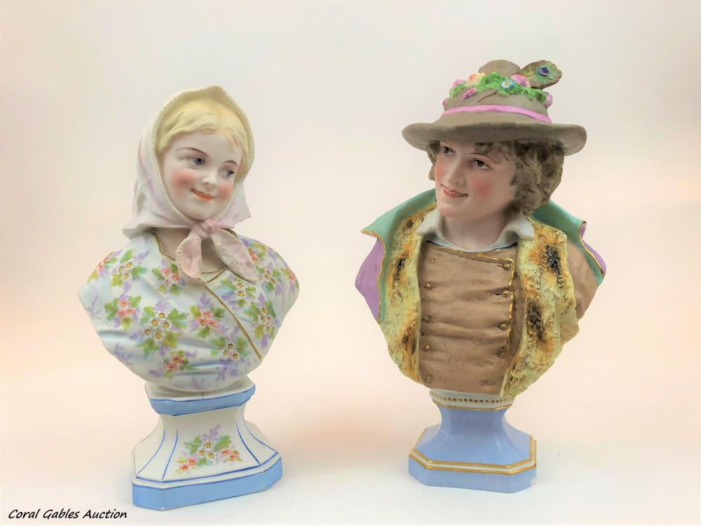 Two Biscuit Busts