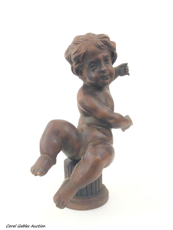 Wooden sculpture of an angel