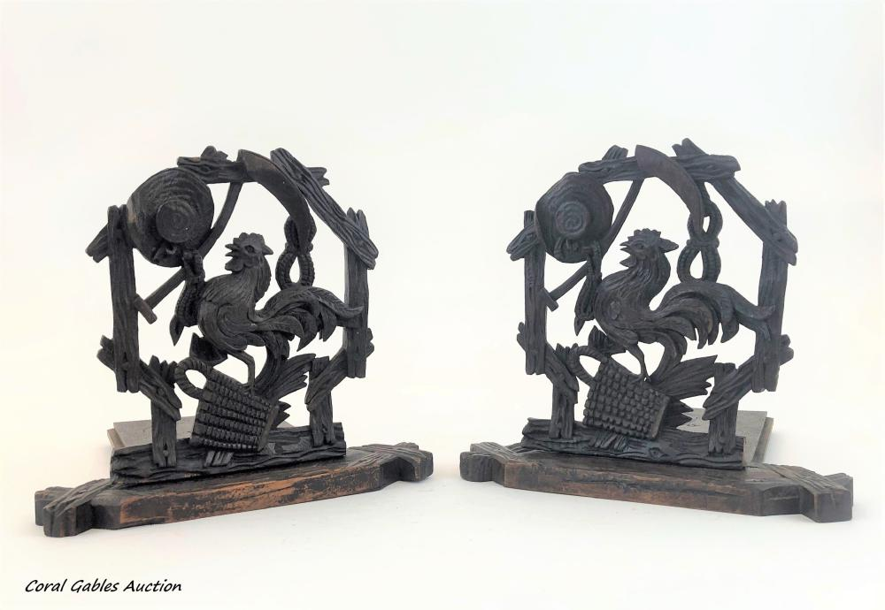 Pair of wooden book holder