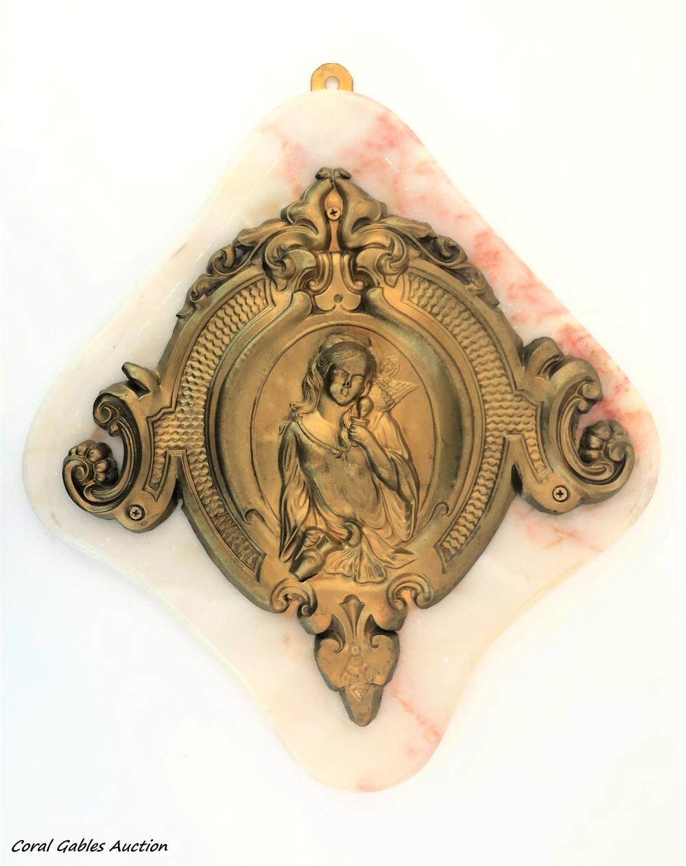 Religious brass plaque