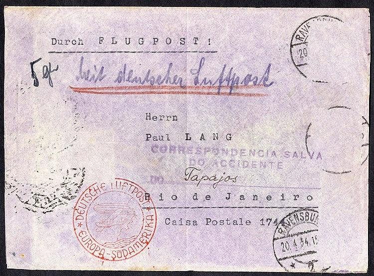 1934 CONDORS JUNKERS W.34 'Tapajoz' sank Rio De Janeiro 3.5.34 co