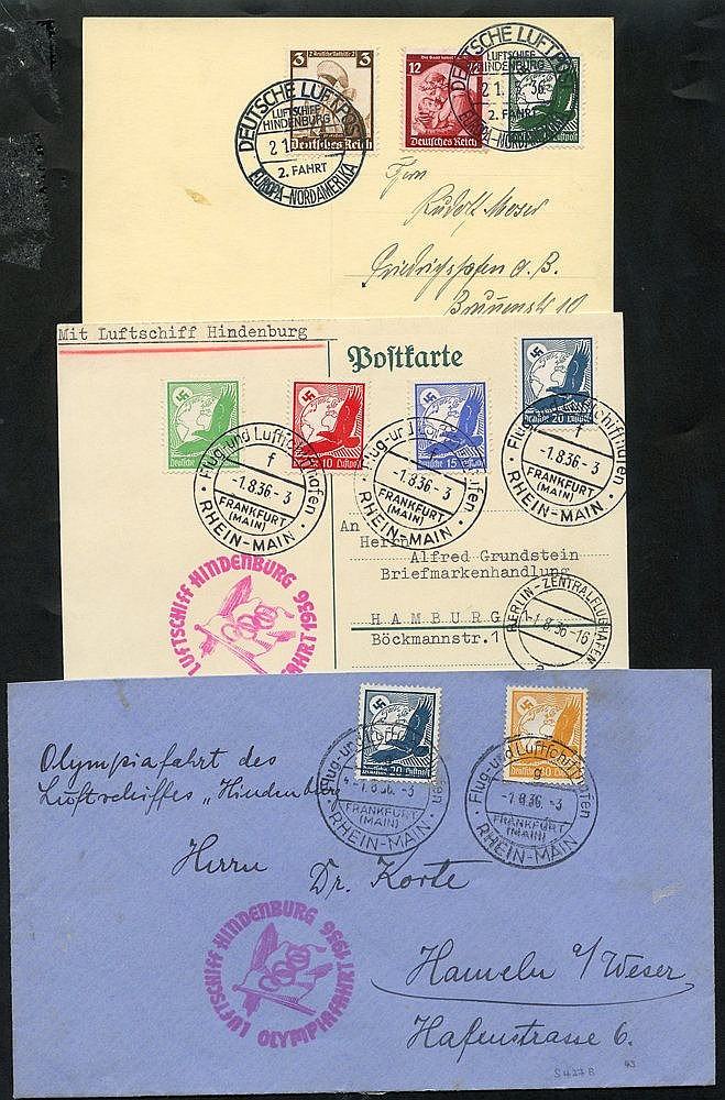 1936 2nd Europe - North America flight PPC of LZ127 with Olympic