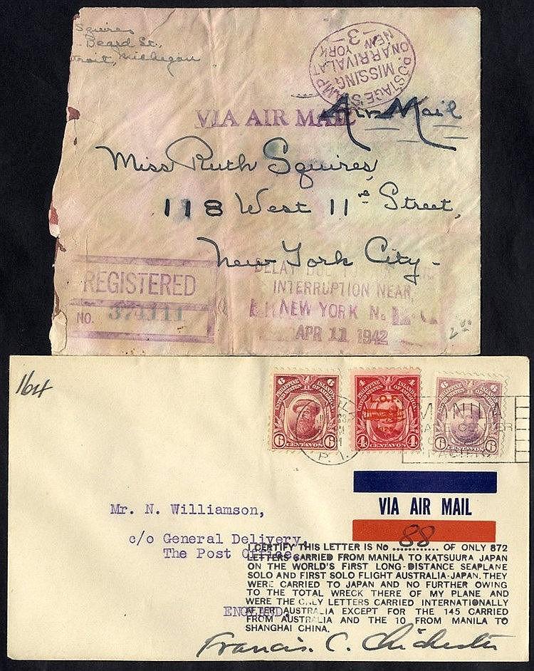1931 Francis Chichester flight Manila - Tokyo, crashed at Katsuur