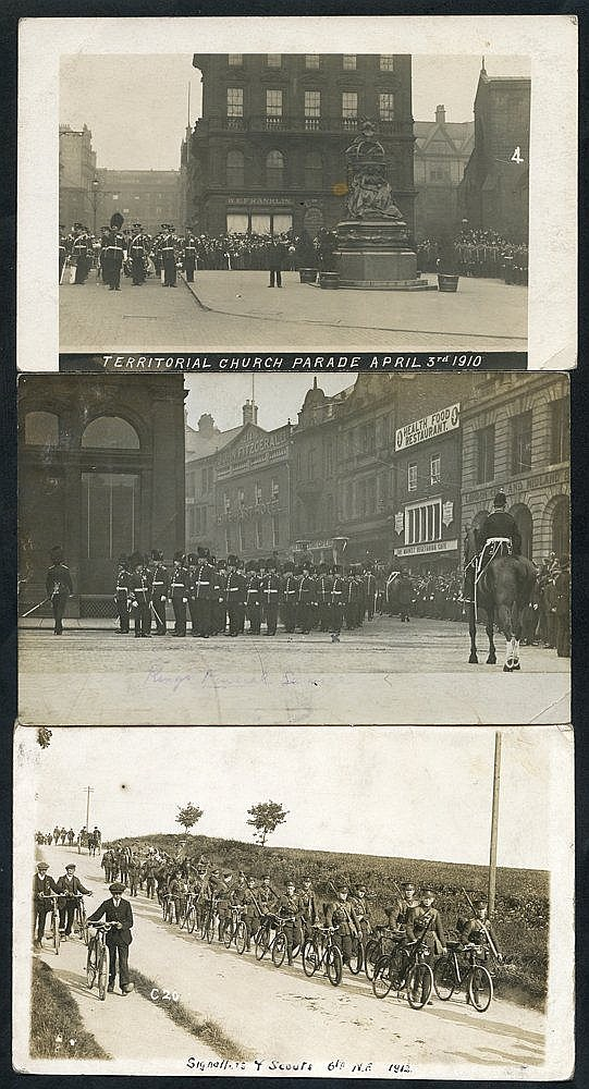MILITARY Northumberland Fusiliers collection of 57 cards incl. In