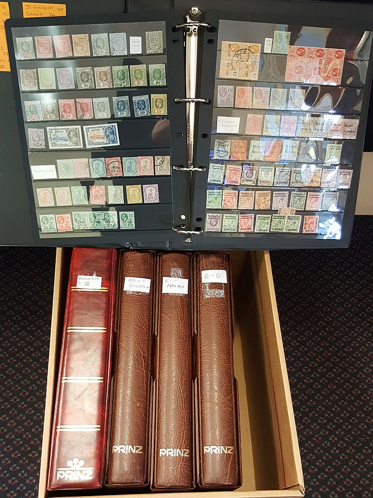BRITISH COMMONWEALTH collection of approx 9000 stamps housed in f