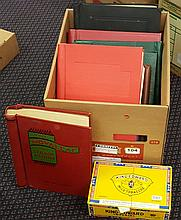 WORLD COLLECTION M & U ranges in eight albums + a cigar box.