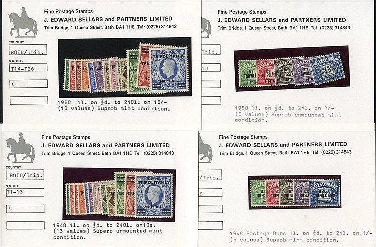 TRIPOLITANIA 1948 & 1951 Defin sets + 1948 & 1950 Postage Due set
