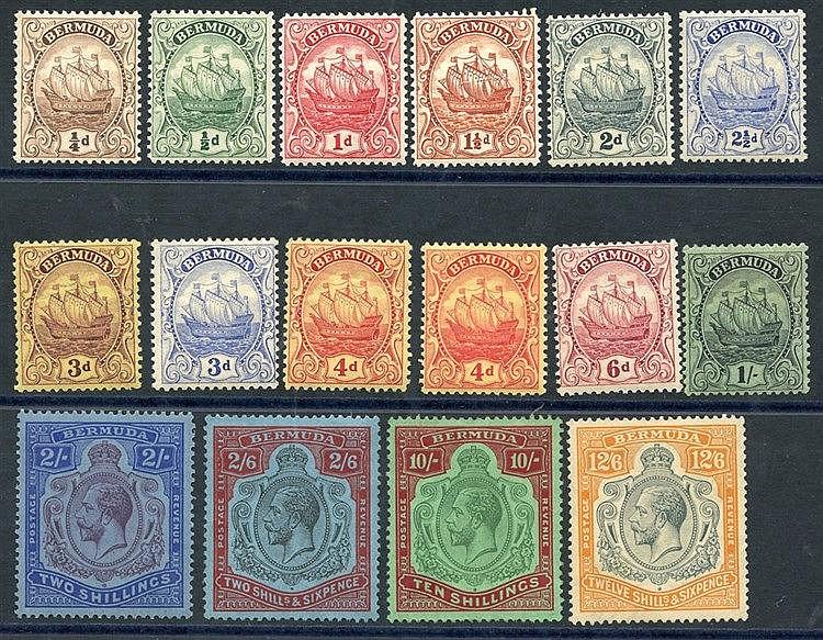 1922-34 MSCA set (excl. 2½d sage) M, SG.77/87, 1924-32 MSCA set 2