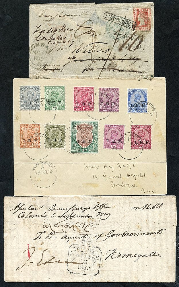 1850's - later small group of EL's & covers, marks incl. framed L