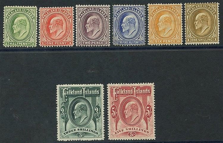 1904-12 MCCA set, M (2½d fault & 3s crease), SG.43/50. (8) Cat. £