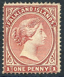 1882 1d marginal wmk 'WN' unused, SG.5 variety. (1)