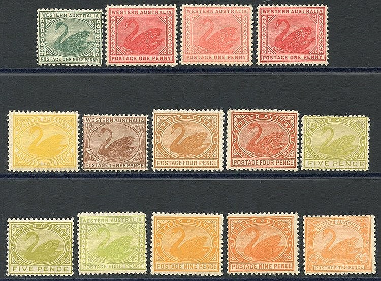 1905-12 ½d to 10d range incl. shades, fine M, from SG.138/146. Sc