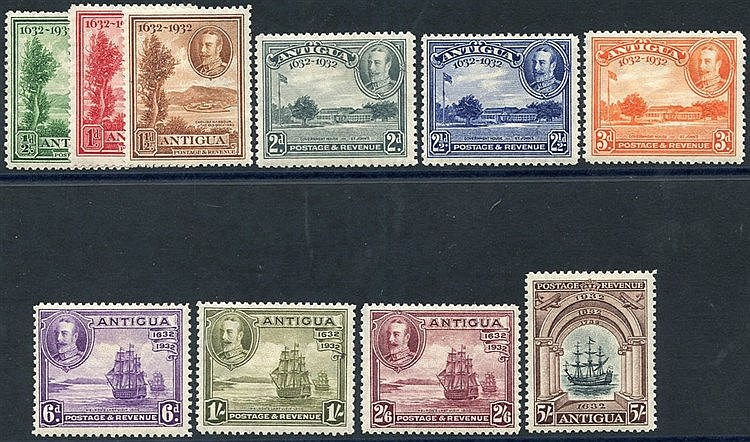 1932 Tercentenary set, fine M, SG.81/90 (10) Cat. £225