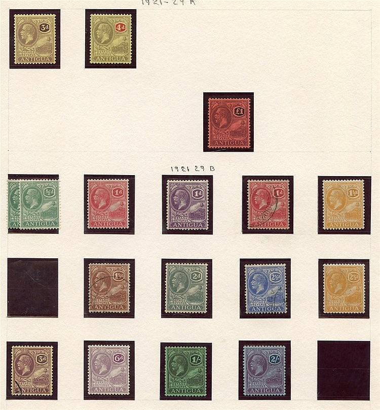 Collection on leaves with KEVII to 1s, 1921-29 MCA £1 M, MSCA to