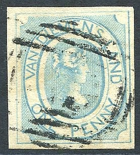 1853 1d pale blue, later impression on thin hard paper [12], good