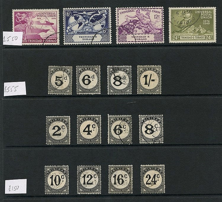TRINIDAD & TOBAGO 1937-51 complete (39) - the 1945 1s Due has pul