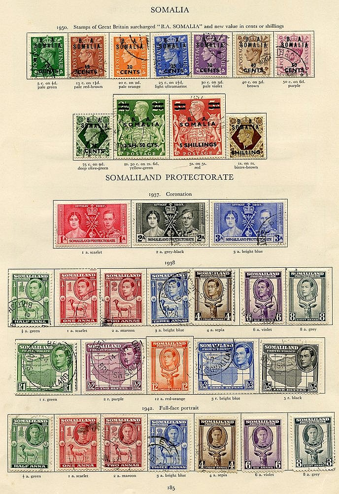 SOMALILAND PROTECTORATE 1937-51 complete (46) & SOMALIA 1943-50 c