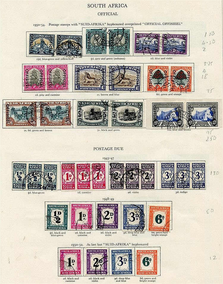 SOUTH AFRICA & S.W.A 1936-51 virtually complete. Viewing recommen