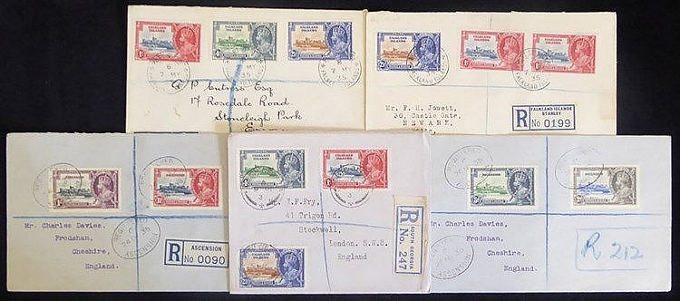 FALKLAND ISLANDS & ASCENSION - 1935 Ascension Silver Jubilee set