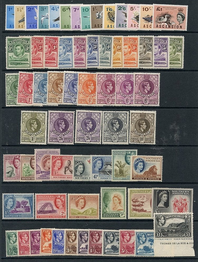BRITISH COMMONWEALTH M defin sets - Ascension 1963 set, Basutolan