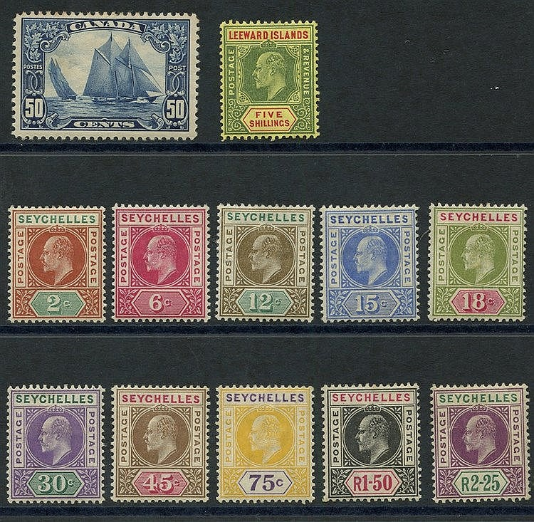BRITISH COMMONWEALTH - Canada 1928 50c bluenose, M (minor tone pa