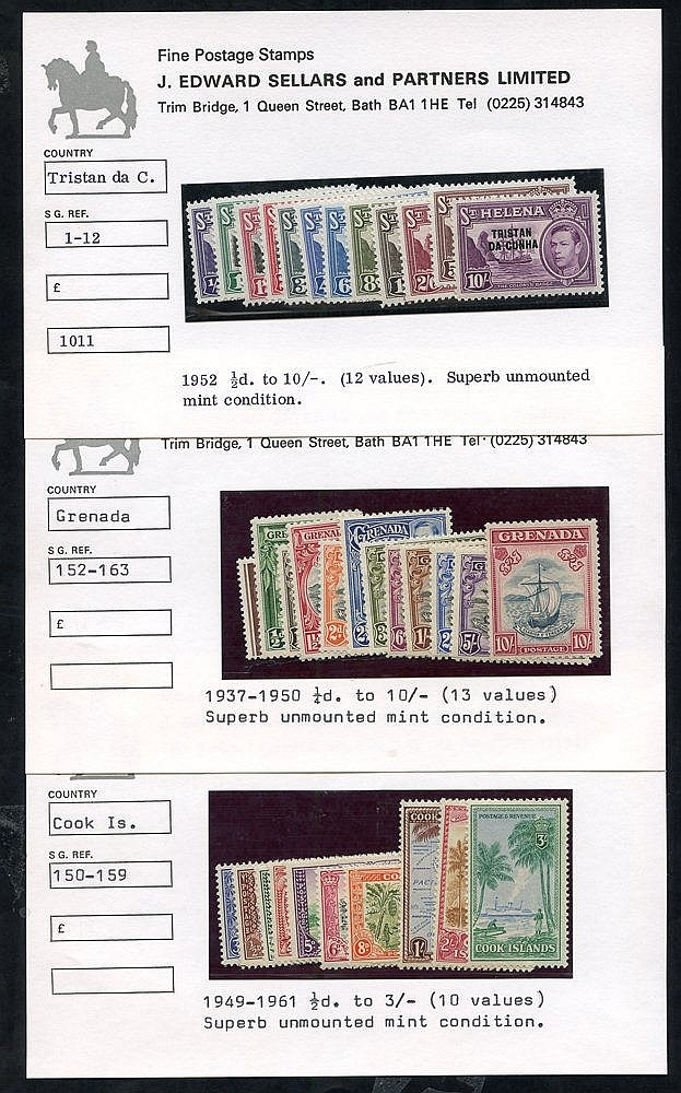 BRITISH COMMONWEALTH KGVI UM complete sets comprising Cook Island