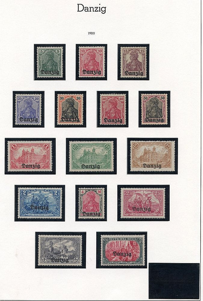 Collection on Lighthouse leaves 1920 to 5m, 1920 set of five Surc