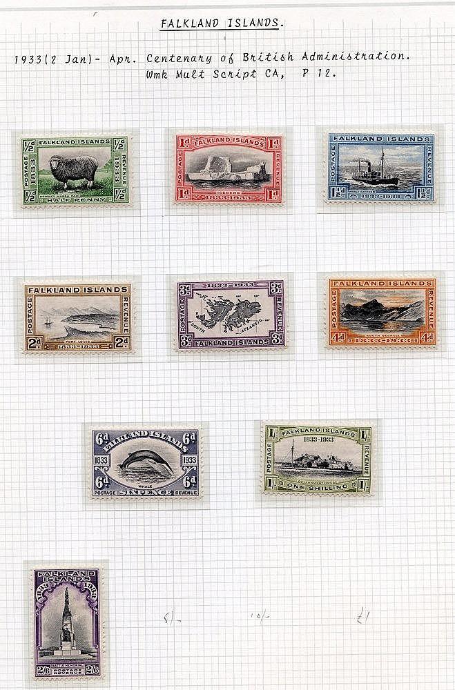 1929-35 fine M range incl. 1929 Whale & Penguins set to 2/6d, 193